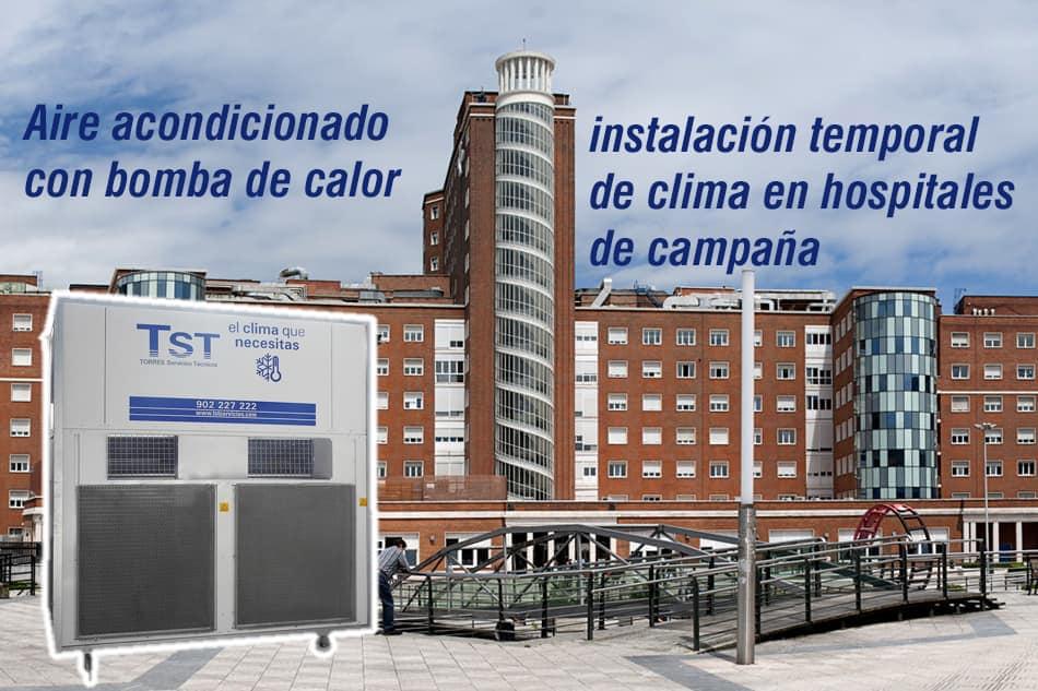 Aire acondicionado temporal hospital de campaña Bilbao