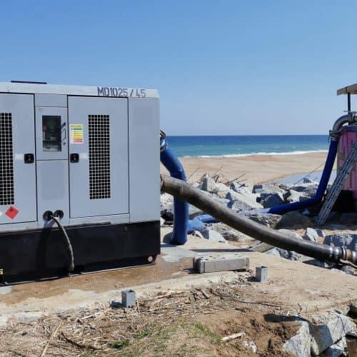Motobombas diesel para desatascos de tuberías de aguas residuales
