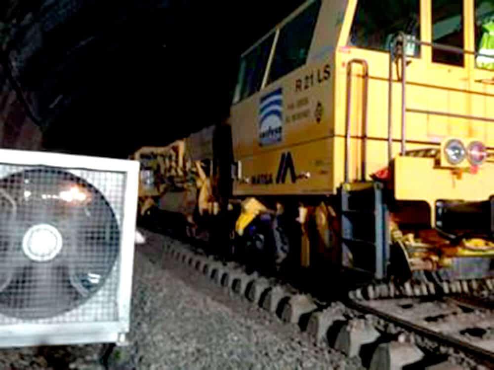Ventilación forzada en túneles