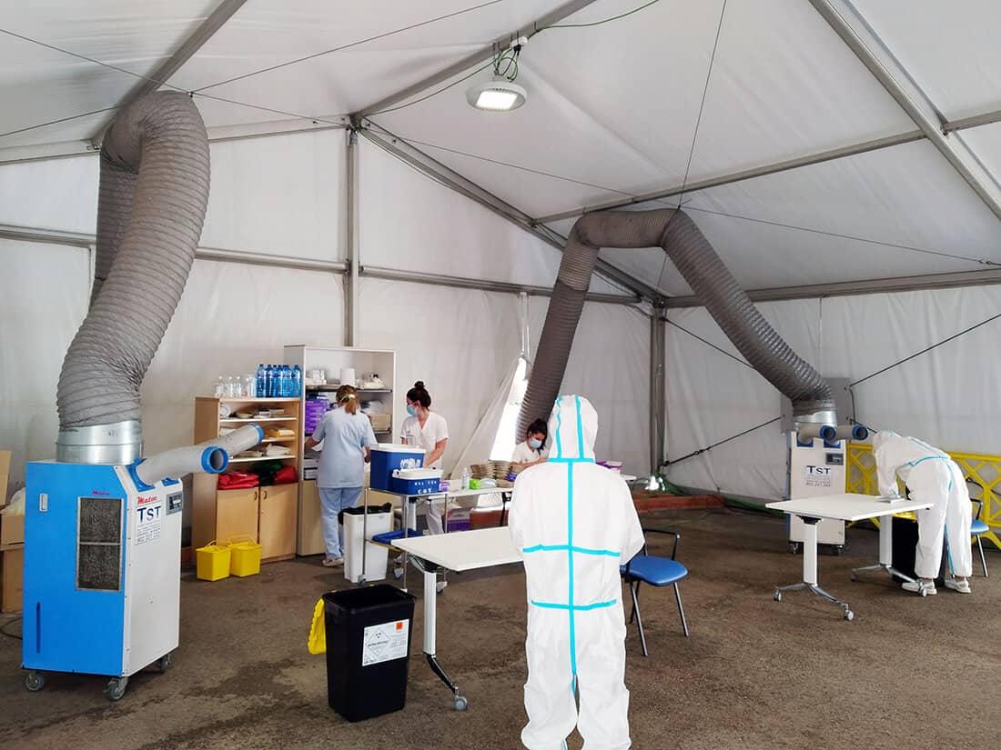 Climatización de la Carpa en Hospital Cruces con Spot Cooler