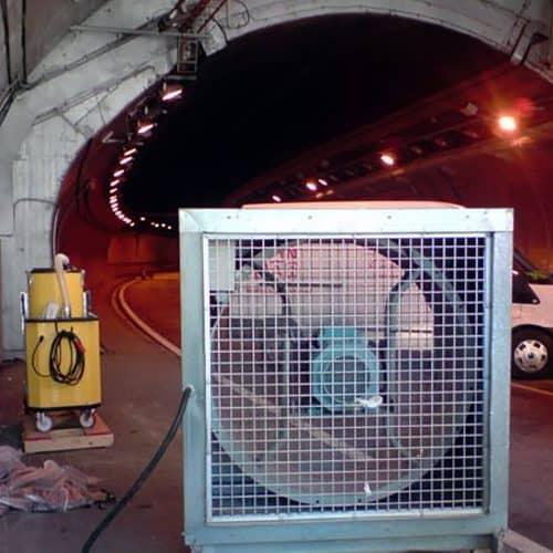 Ventilación para túneles en construcción