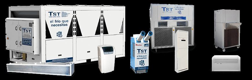 Alquiler de equipos de refrigeración aire frio y aire acondicionado