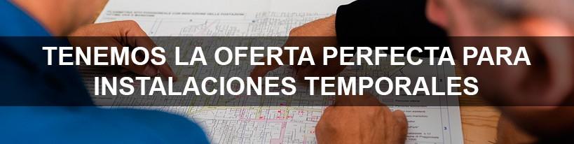 Equipos y aplicaciones para instalaciones temporales