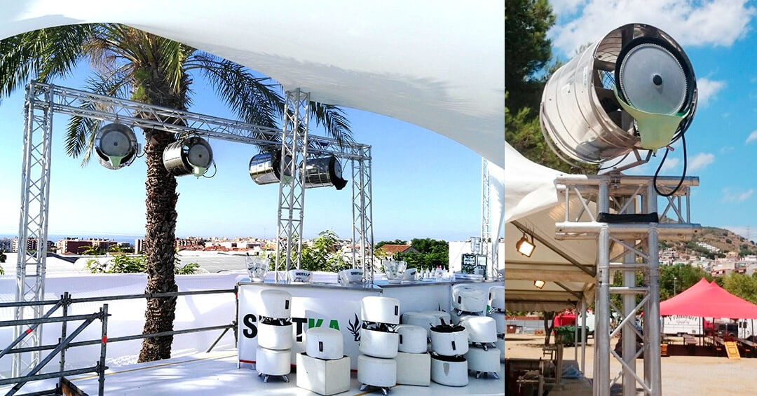 Pulverizadores de agua perfectos para fiestas en verano