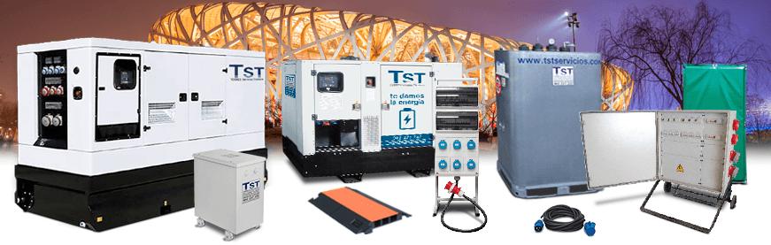 Alquiler de equipos y maquinaria de potencia eléctrica para eventos